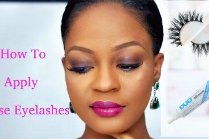 How To Apply False Eyelashes - Tutorial